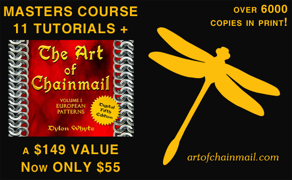 Art of Chainmail Masters Kit - The Original Book plus 11 Tutorials!